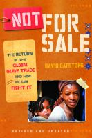 Not for sale : the return of the global slave trade - and how we can fight it / David Batstone
