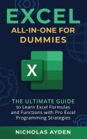 Excel all-in-one for dummies